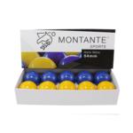 Jogo de bolas mata-mata azul e amarelo Montante 54mm
