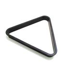 Triângulo preto para jogo de bolas em plástico