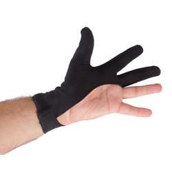 Luva 3 dedos para jogadores de bilhar